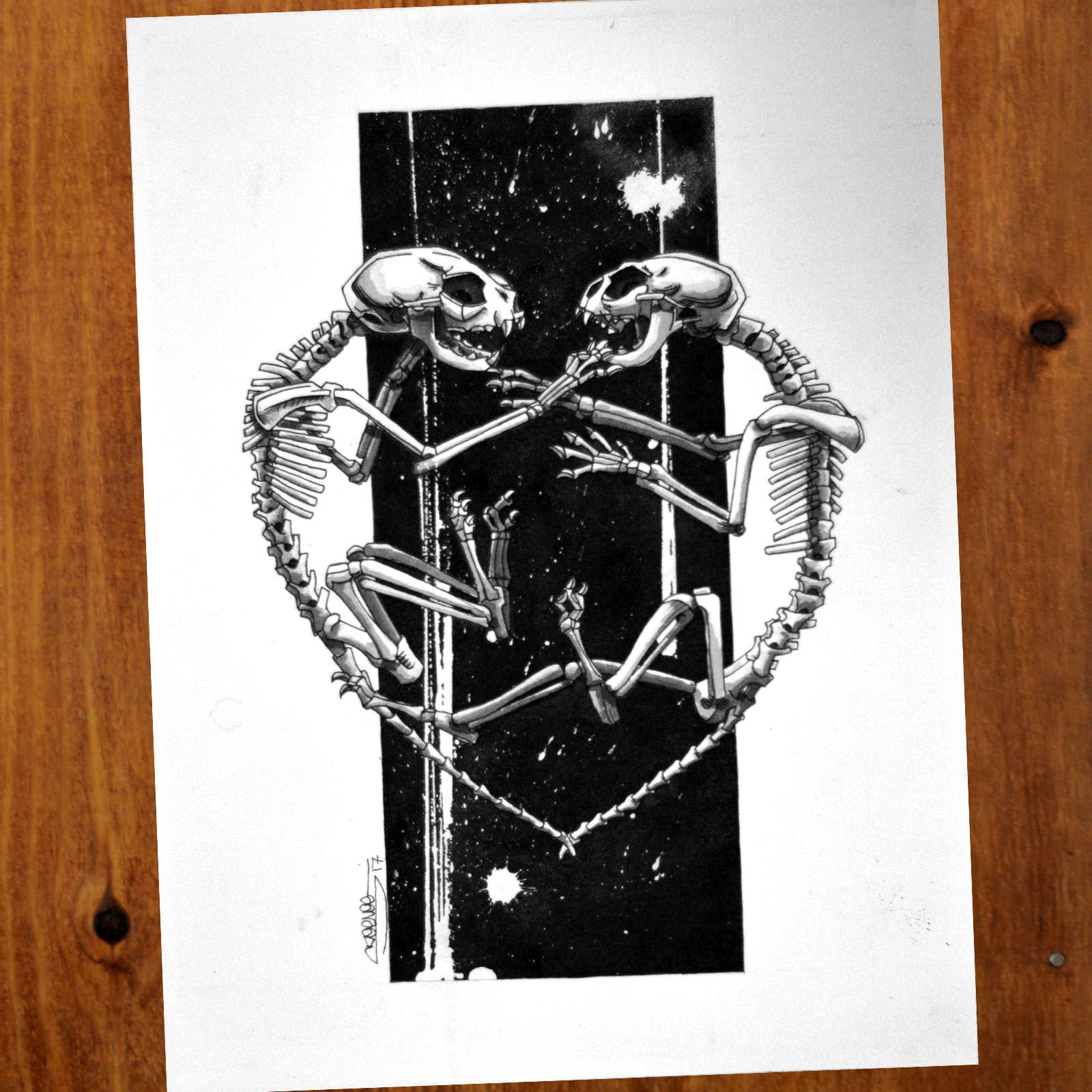 Kitten Skeletons Painting Inspired By The Very Talented Tom S Imagination Fountain Pen Sumi Ink Kitten Skullart Blackartist Inkdrawing S Dengan Gambar Fountain Pen