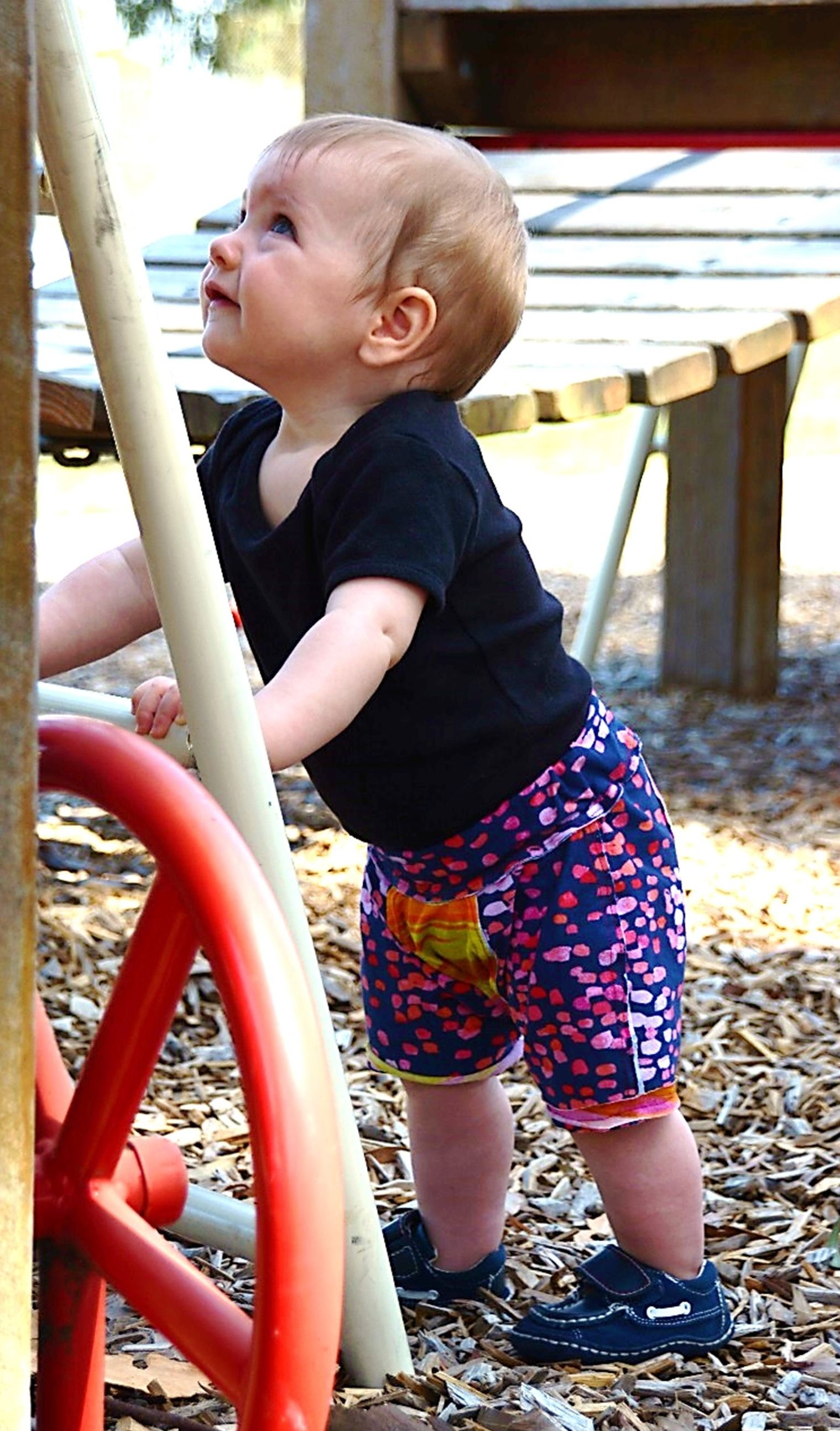 Easy to sew, fun to make and comfortable to wear... try Dizzy Mister's Comfy Shorts sewing pattern for your little adventurer!