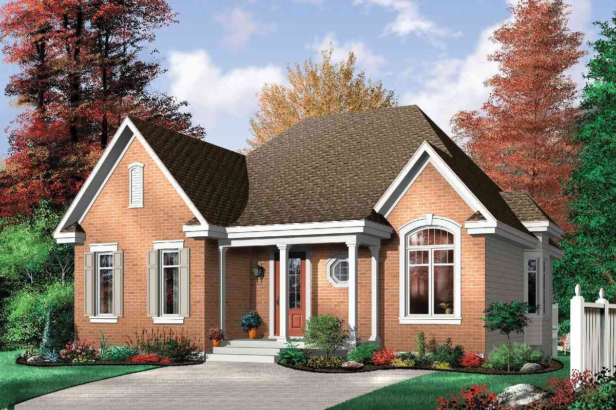 Plan 21270dr Economical Three Bedroom Brick House Plan In 2021 Brick House Plans Bungalow Style House Plans Farmhouse Style House Plans