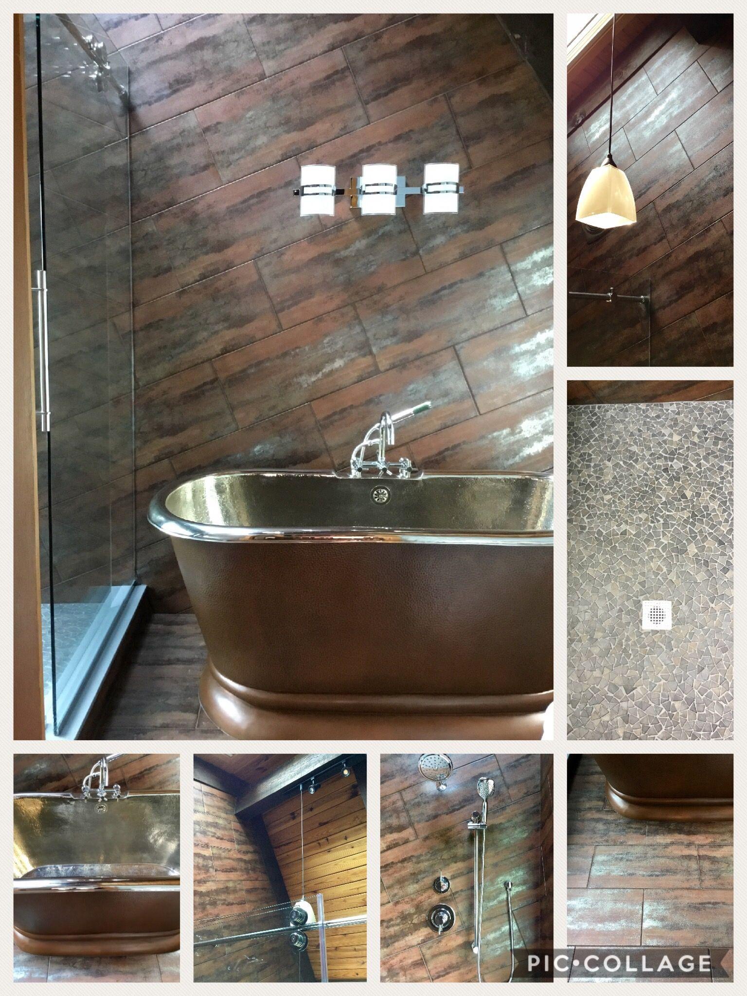 Photo of Metallic tile…Foset – Rusty Series – Color Cobre  Metallic tile with metallic …