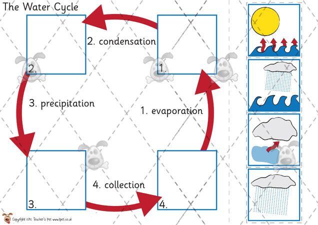 teachers pet activities games water cycle sorting activities eyfs ks1 ks2