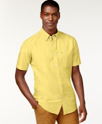 TOMMY HILFIGER Tommy Hilfiger Men'S Maxwell Short-Sleeve Button-Down Shirt . #tommyhilfiger #cloth #down shirts