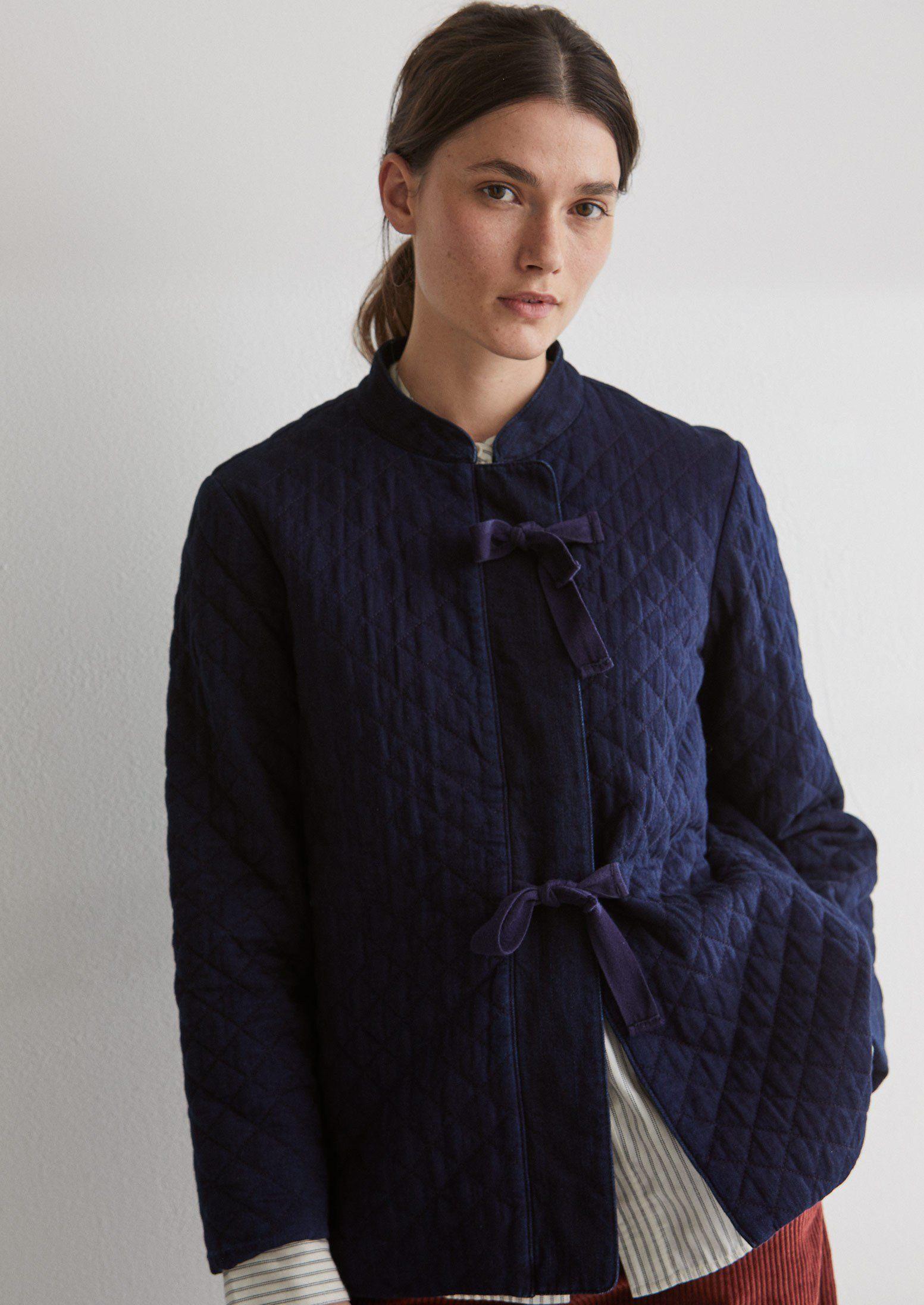 Japanese Quilted Indigo Cotton Jacket Toast Womens Quilted Jacket Coats Jackets Women Cotton Twill Jacket