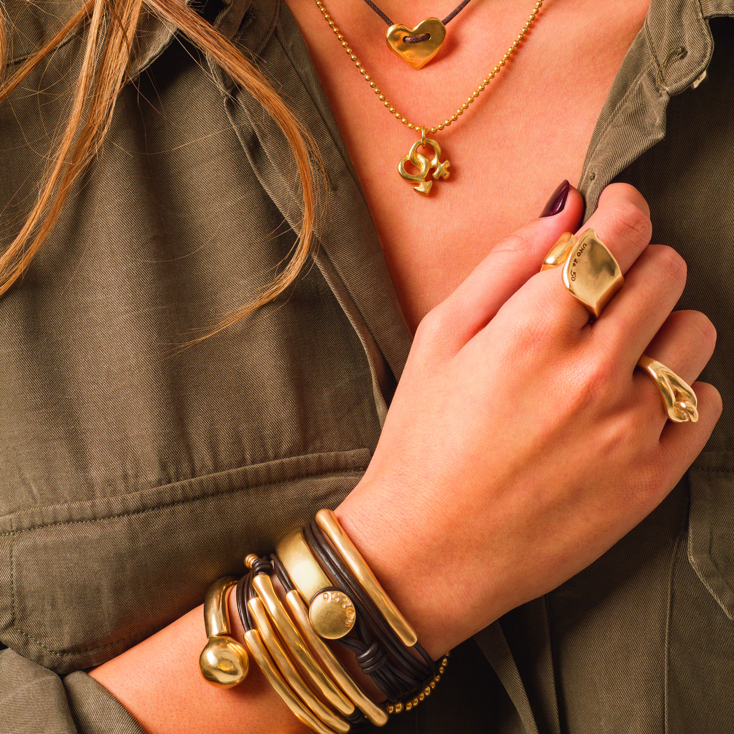 Unode50 Gold My Style Pinterest Gold Urban jewelry and Urban