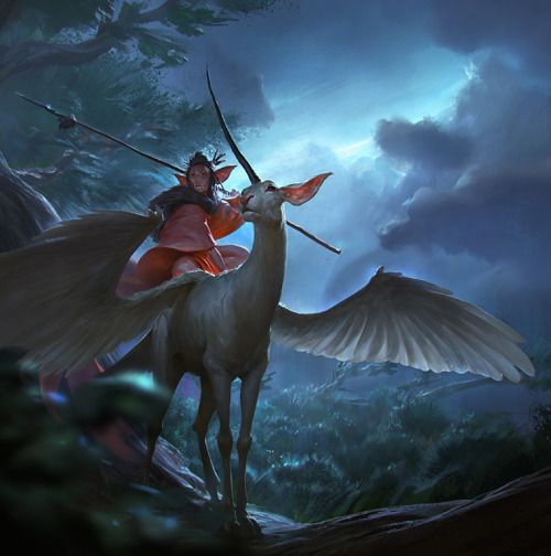 fantasyartwatch:  Unicorn Rider by Even Amundsen