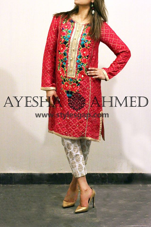9cfc8966f019 Ayesha Ahmed Formals Party Wear Dresses Designs 2018-19 Collection ...