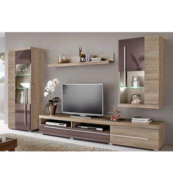 Wohnwand (4-tlg) Anbauwände (modern\/rustikal) Jetzt bestellen - wohnzimmer modern rustikal