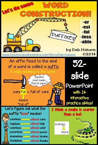 Suffixes Powerpoint Powerpoint Suffix Third Grade Language Arts Activities