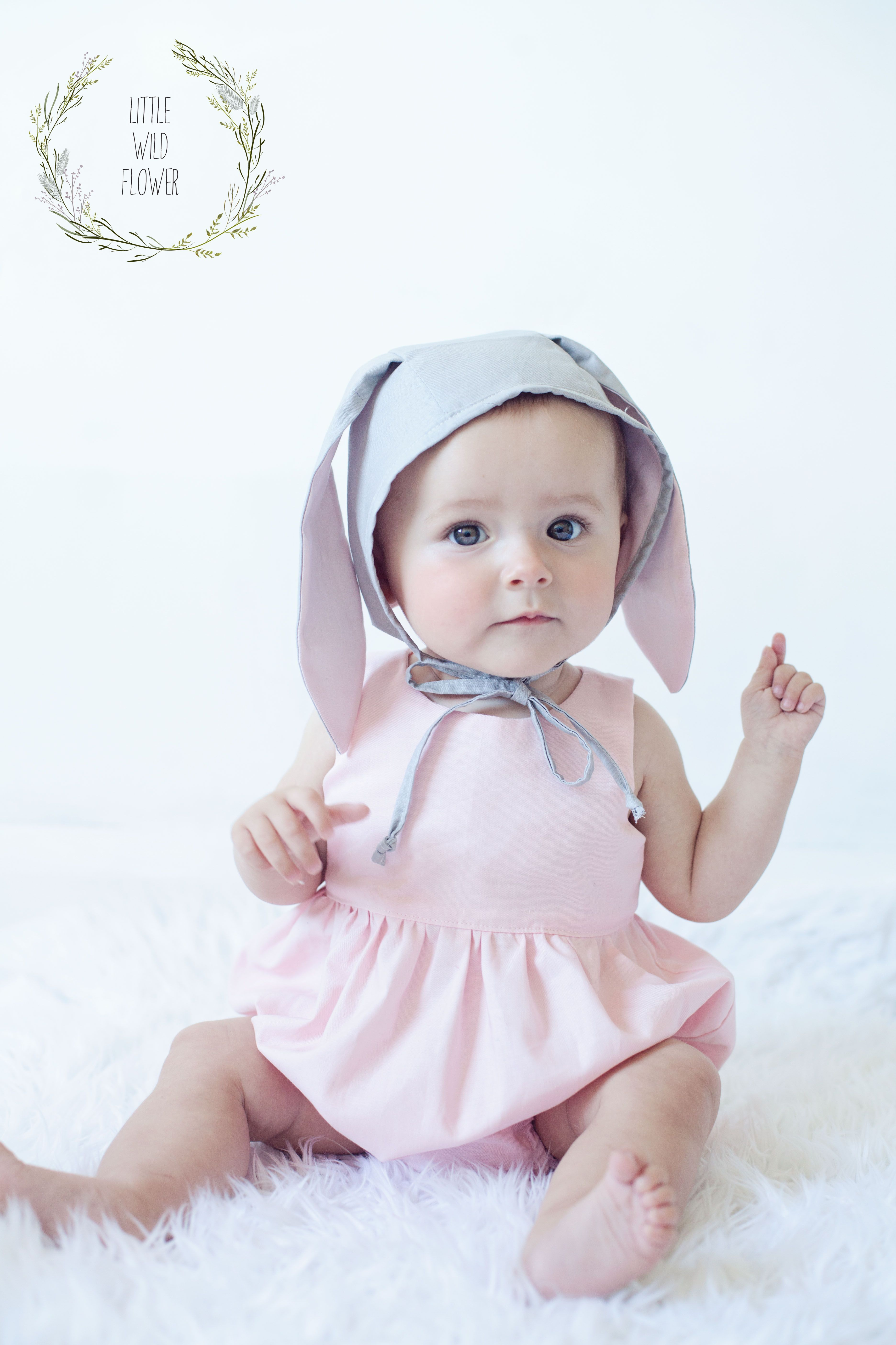 Baby Tea Party Playsuit & Purl Soho Bonnet Easter Bunny | LITTLE ...