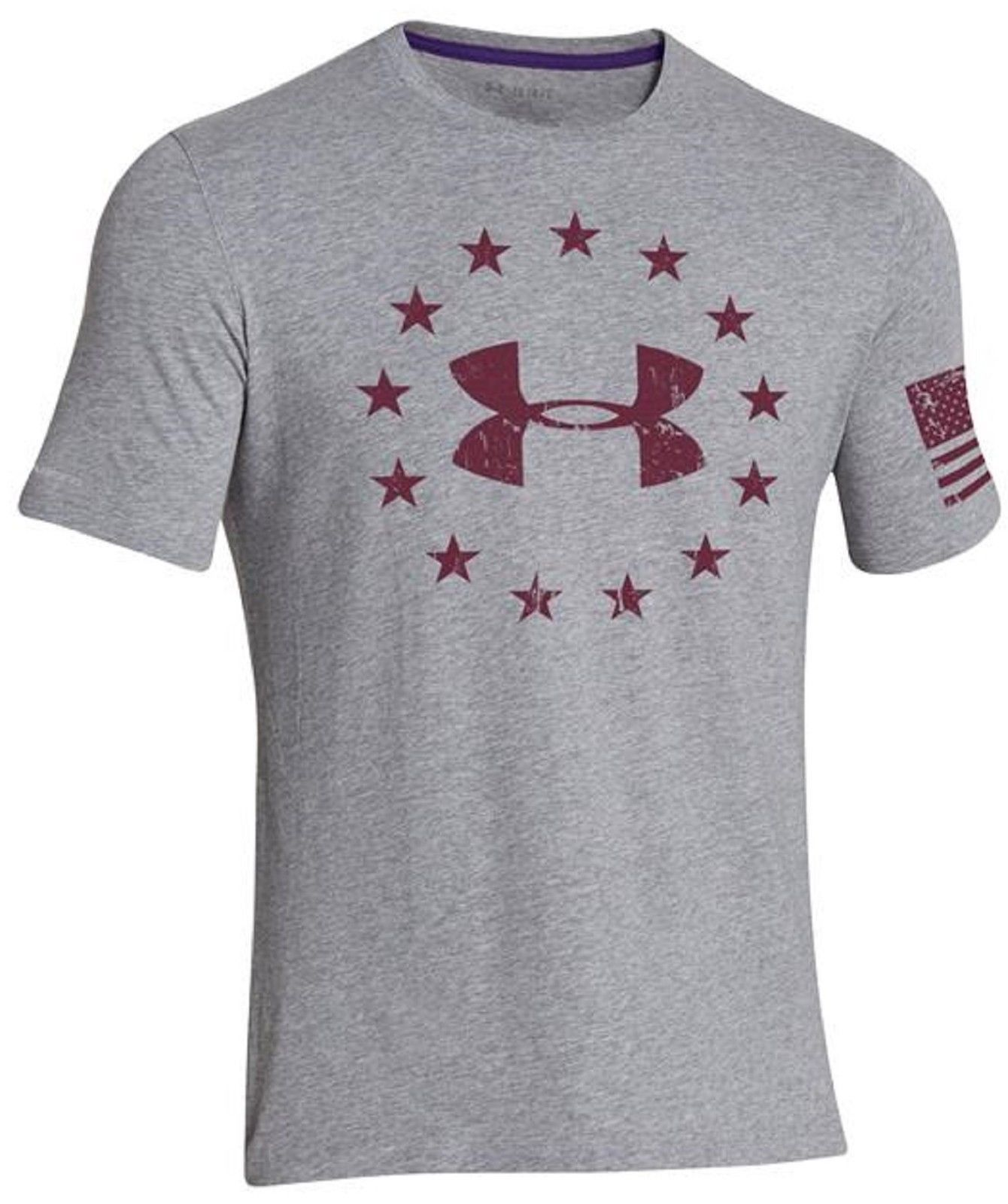 819f924c0561 Under Armour Mens FREEDOM Short Sleeve T-Shirt - UA Patriotic Stars ...