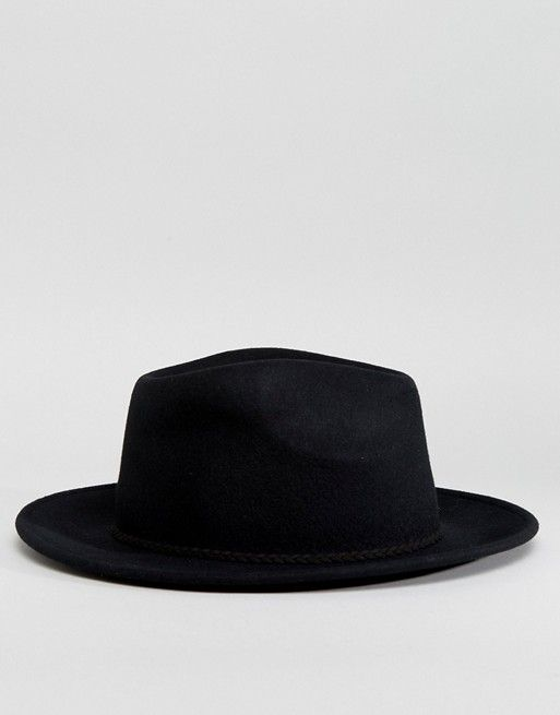 23ea2361b ASOS | ASOS DESIGN felt panama hat with plait braid trim with size adjuster