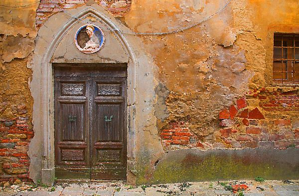 Tuscan Landscape Oil Paintings For Sale - Old Door Painting - Tuscan Landscape Oil Paintings For Sale - Old Door Fine Art Print & Landscape Oil Paintings For Sale   Tuscan Landscape Oil Paintings ...