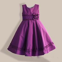 Big Size Girls Party Dress Red Purple Christmas Style high