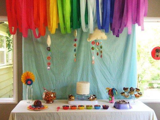 adorno torta arco iris - Buscar con Google