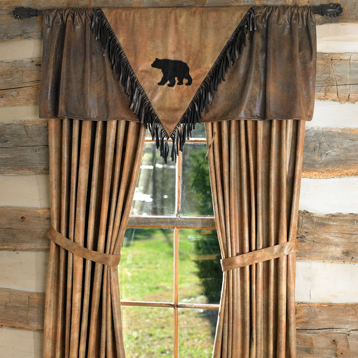 Black Bear V Valance Z Bed Pinterest Posts Rustic Bathrooms And Bathroom Windows