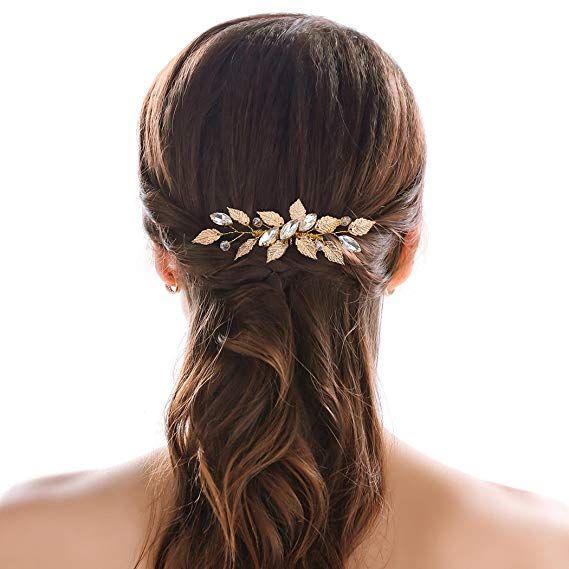 chicer boda hoja de cristal cabello peines Clips Nupcial Damas de Honor y de  la novia 53fb84823fe0