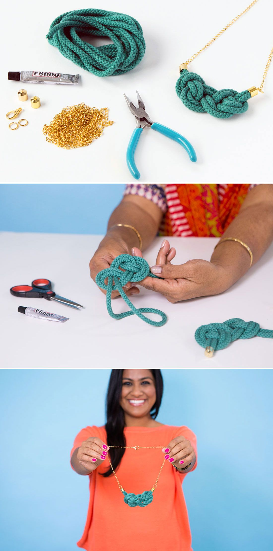 Say hello to your new favorite statement necklace. Oh, and guess what? It's totally DIY.