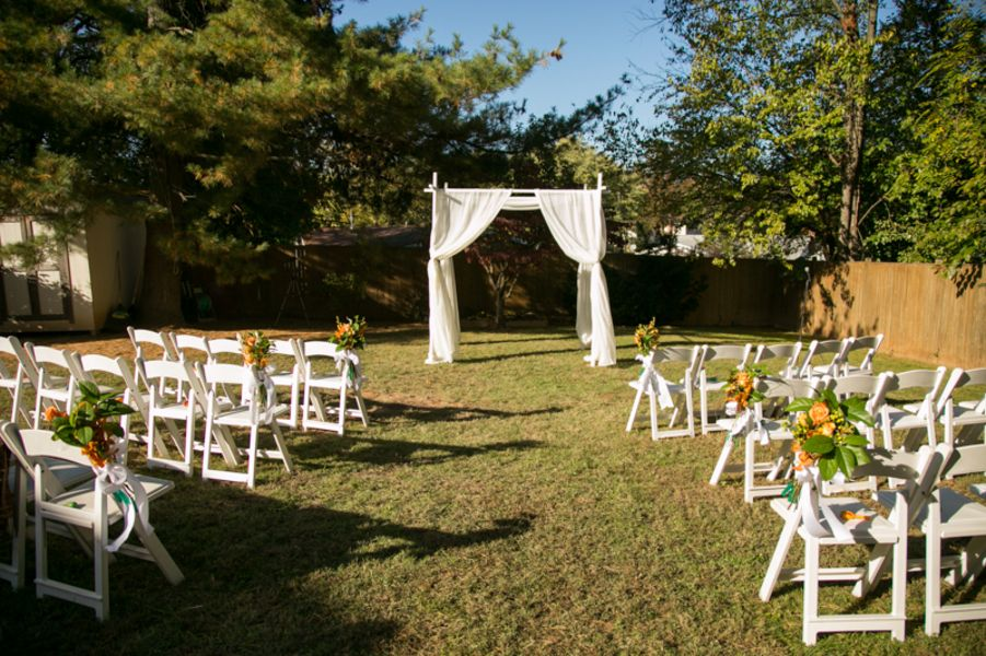 Simple Outdoor Wedding Ceremony Setup Decor From From Carla