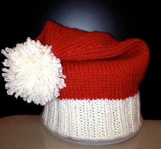 Baby Santa Hat (free pattern) - hand knit by my friend Christina ... 0f8f64b1de8b