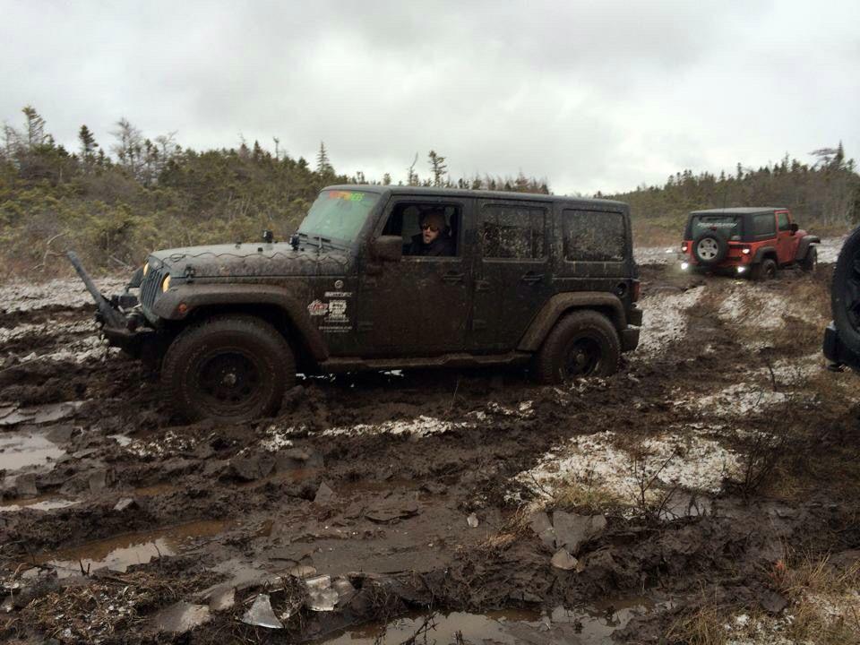 Carbonear Newfoundland Pole Line Jeep Wrangler 4x4 Mud Snow