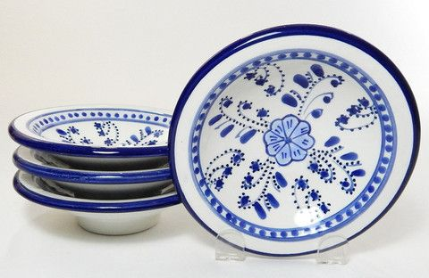 Azoura Hand Painted Small Dishes Blu
