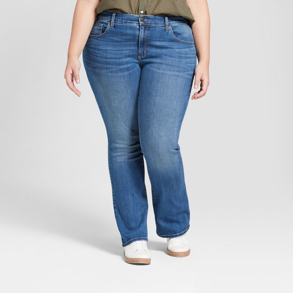 c3c7a5c7425 Women s Plus Size Skinny Bootcut Jeans - Universal Thread Medium Wash 18W