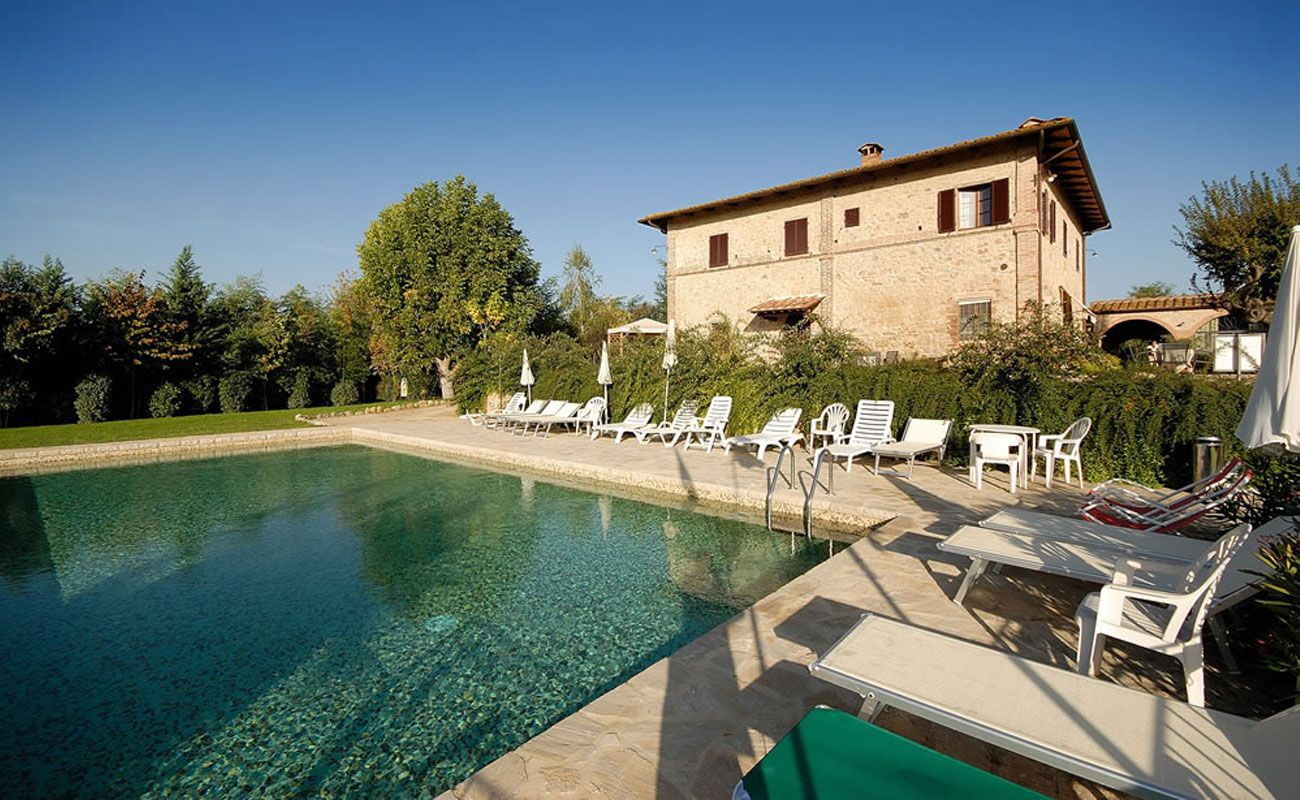 Piscina Villa D Alm.Agriturismo Piscina Siena Monteriggioni Toscana Appartamenti