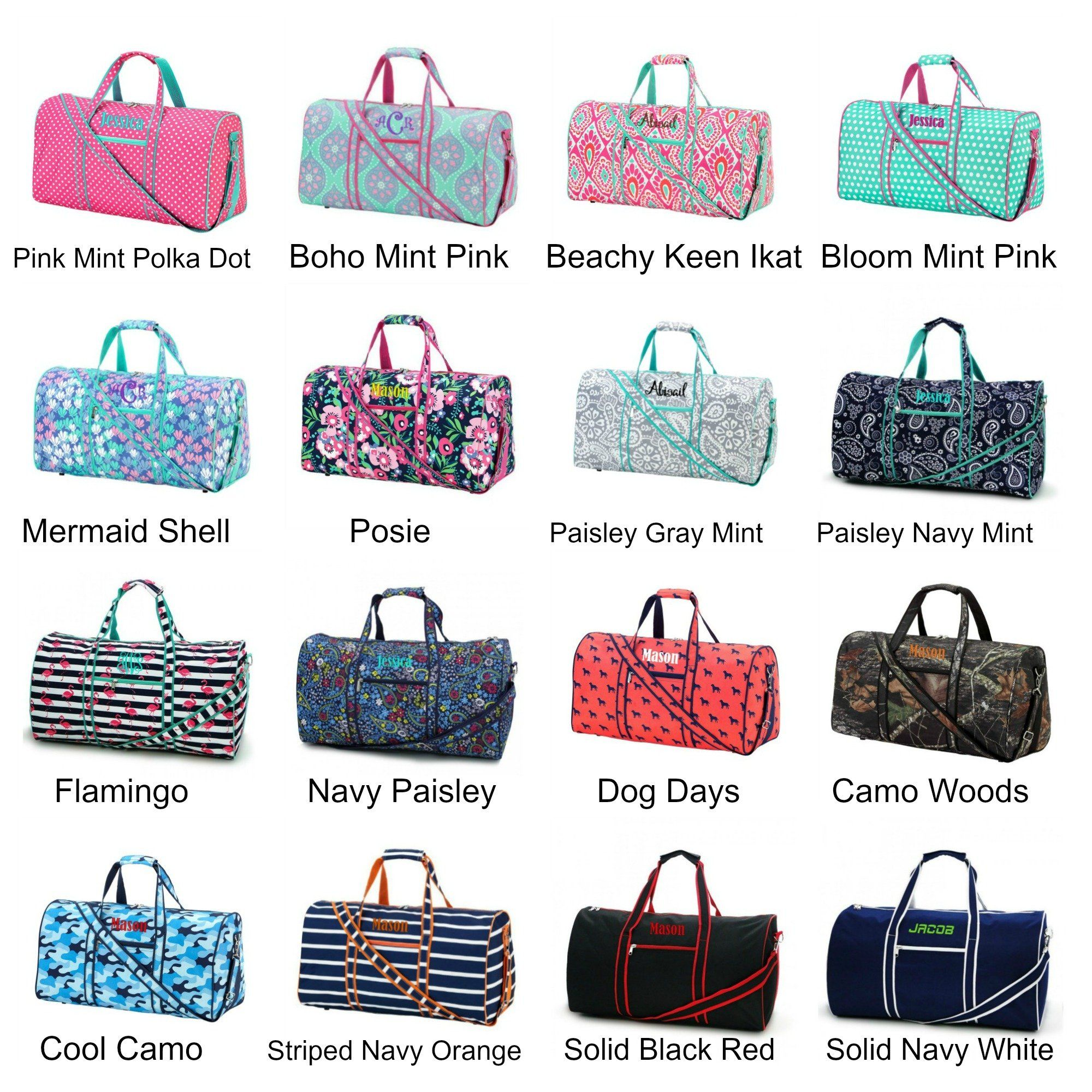 Personalized Large Barrel Duffel Bag Kids Teen Travel Cute girls  amp  boys  duffle bag beautifully 877ebd619daf1