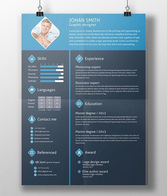 Resume Psd  Halmat    Template And Cv Template