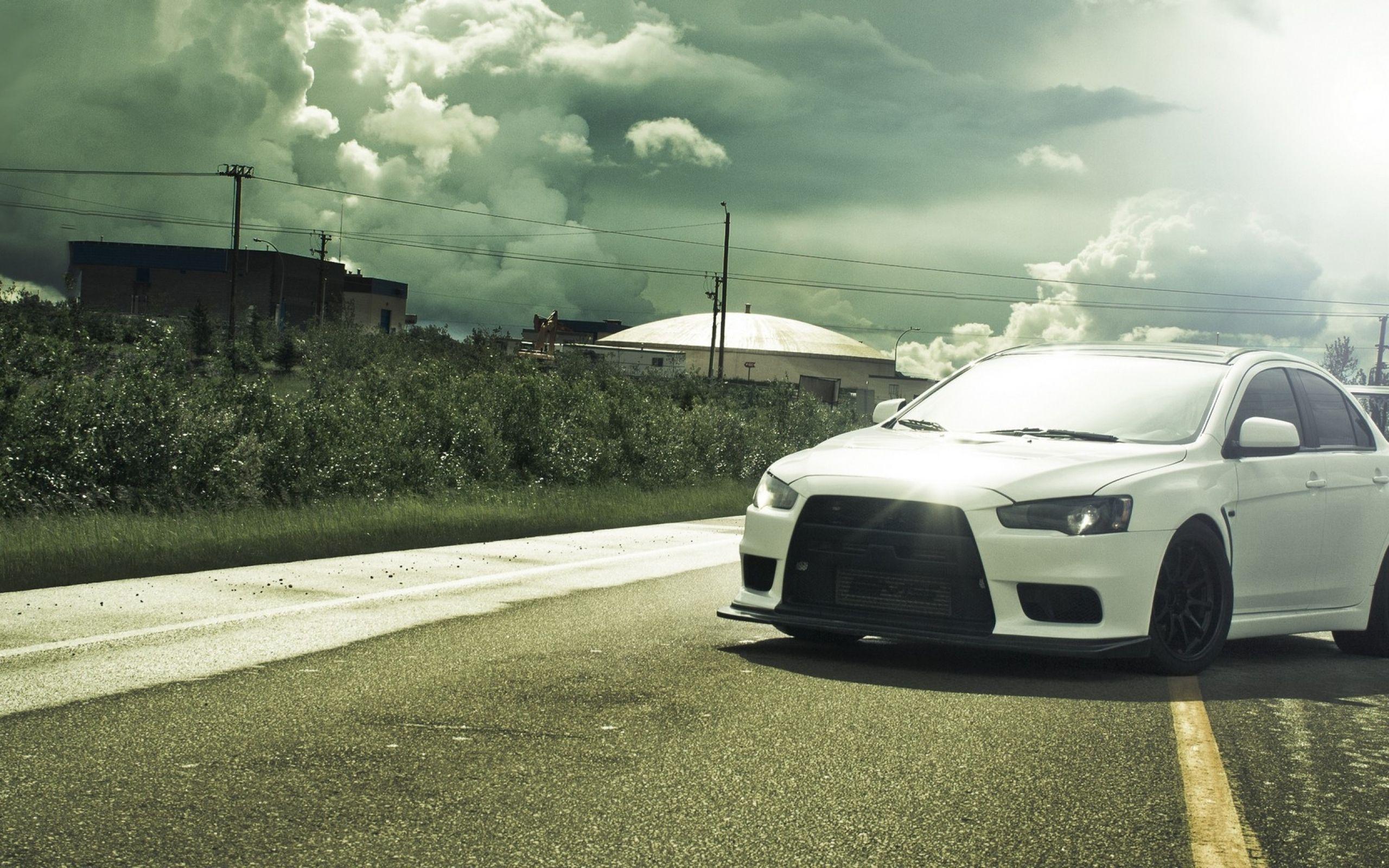 Mitsubishi Lancer White Wallpaper For Iphone Med Bilder