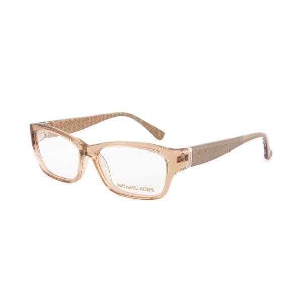 michael kors mk832 279 translucent sand eyeglasses with a rectangular frame - Michael Frames