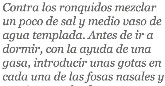 Contra los ronquidos http://www.alimentosysecretos.com/secretos/te-cuento-un-secreto-2/