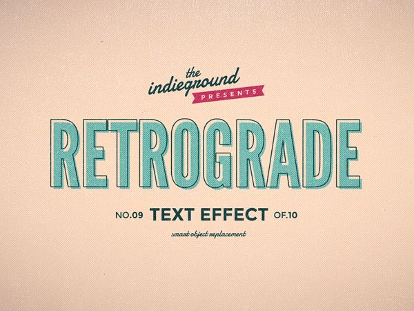 Retro Vintage Text Effects By Roberto Perrino Via Behance 5 Vintage Text Logo Inspiration Vintage