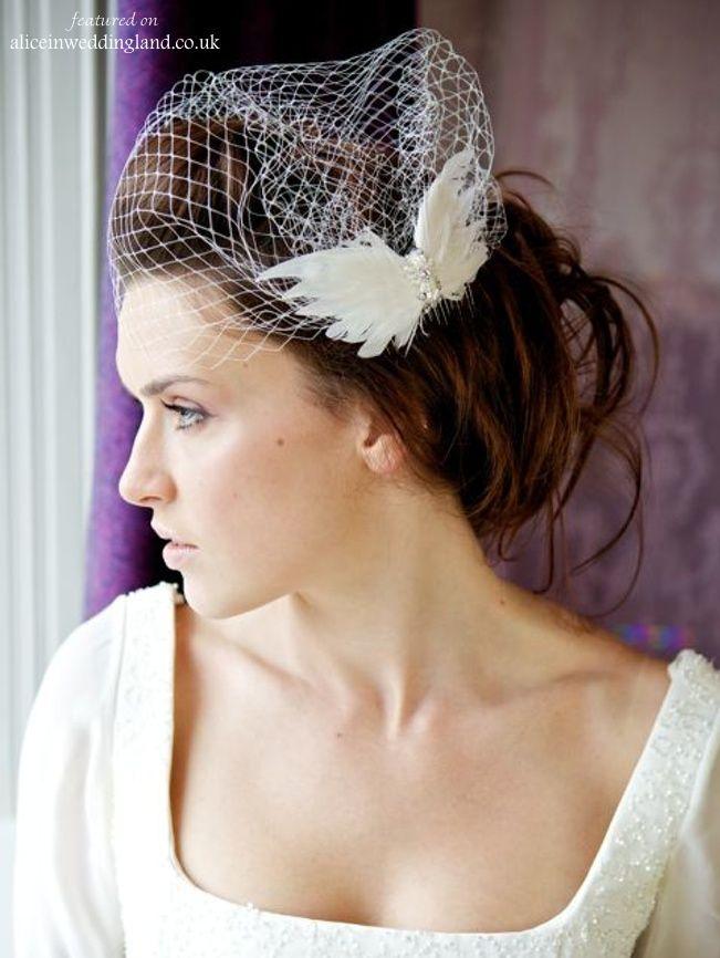 Velo birdcage con una mariposa @AlicesWedding #novias #bodas