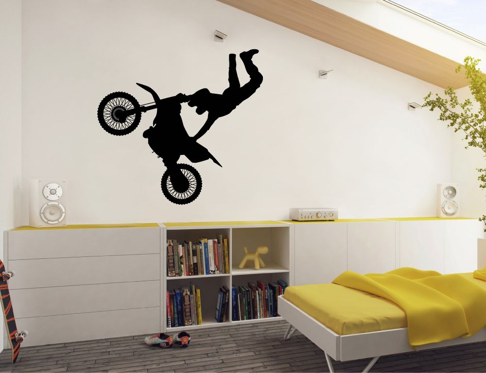 Motorbike Wall Sticker Motocross Wall Art Motocross Wall Art Girls Wall Stickers Wall Decals For Bedroom