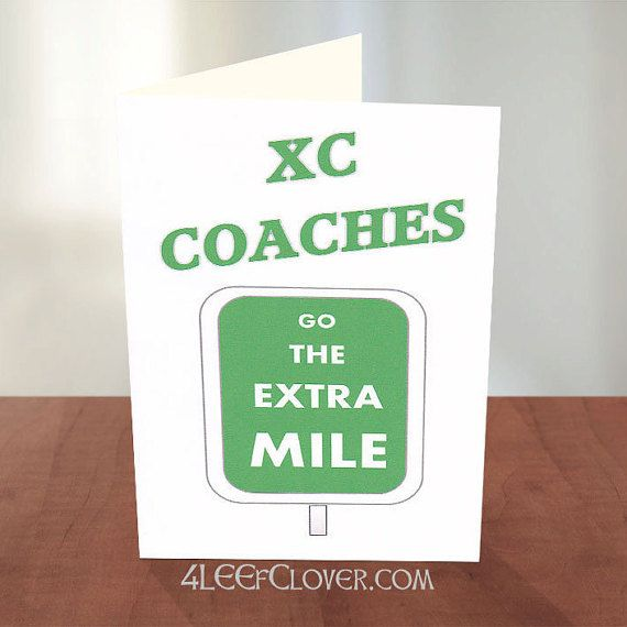 Coach Thank You Card. Ideal Card To Thank Your Cross Country And Track Coaches For Their Hard