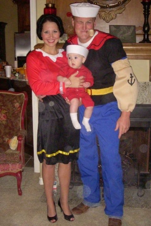 Popeye olive oyl and sweet pea costume halloween ideas popeye olive oyl and sweet pea costume solutioingenieria Images