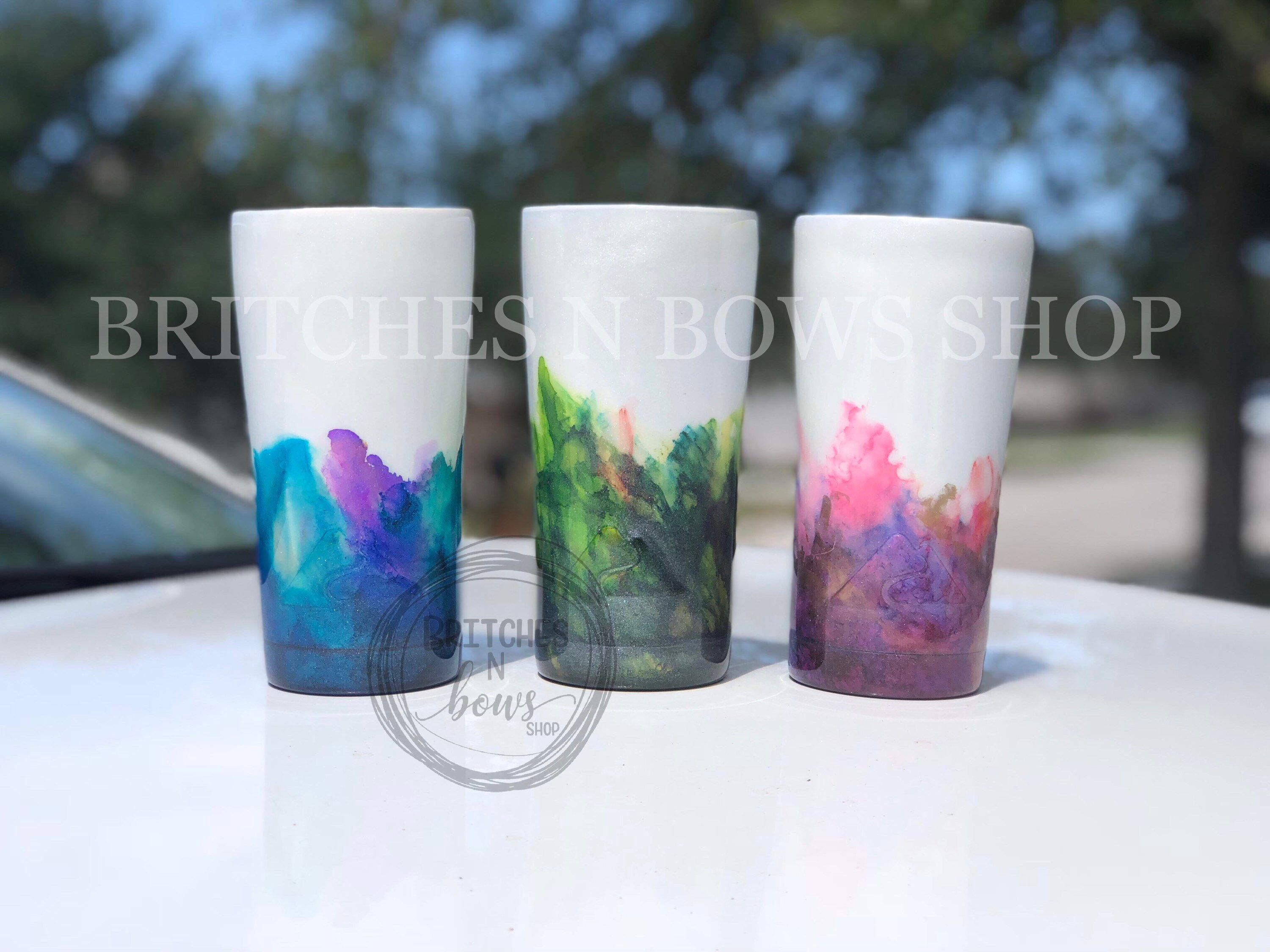 Watercolor Tumbler Design Multiple Color Combos Available