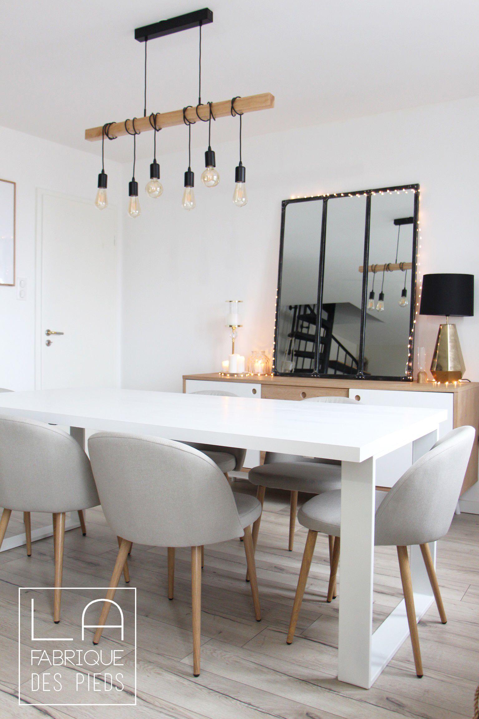 Pied Fer plat Epais 71 cm en 2020 | Idée salle à manger, Table salle à manger et Table à manger