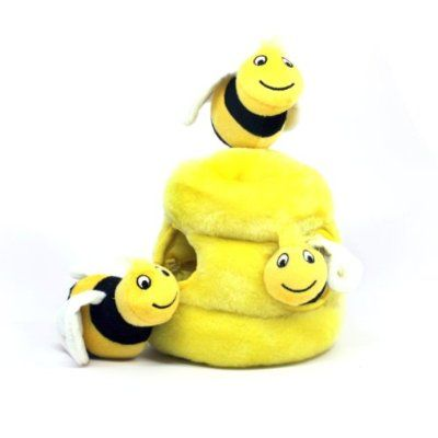 Hide A Bee Dog Toys Interactive Plush Squeak 4 Piece Toy Just