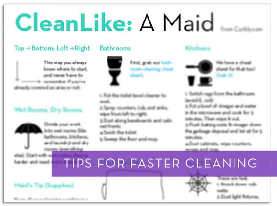 Free Download: How to Clean Like a Maid Cheat Sheet   Maids and ...