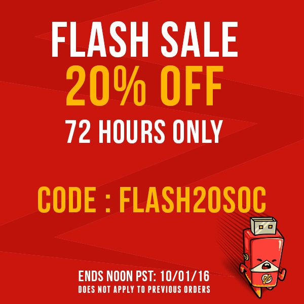 FLASH SALE! Save 20% SITEWIDE for a limited time on TeeFury!