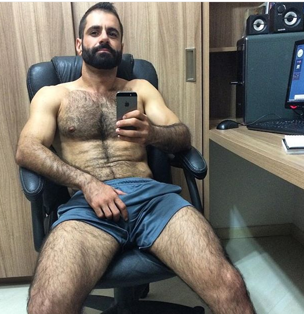 Hot hairy men in sex