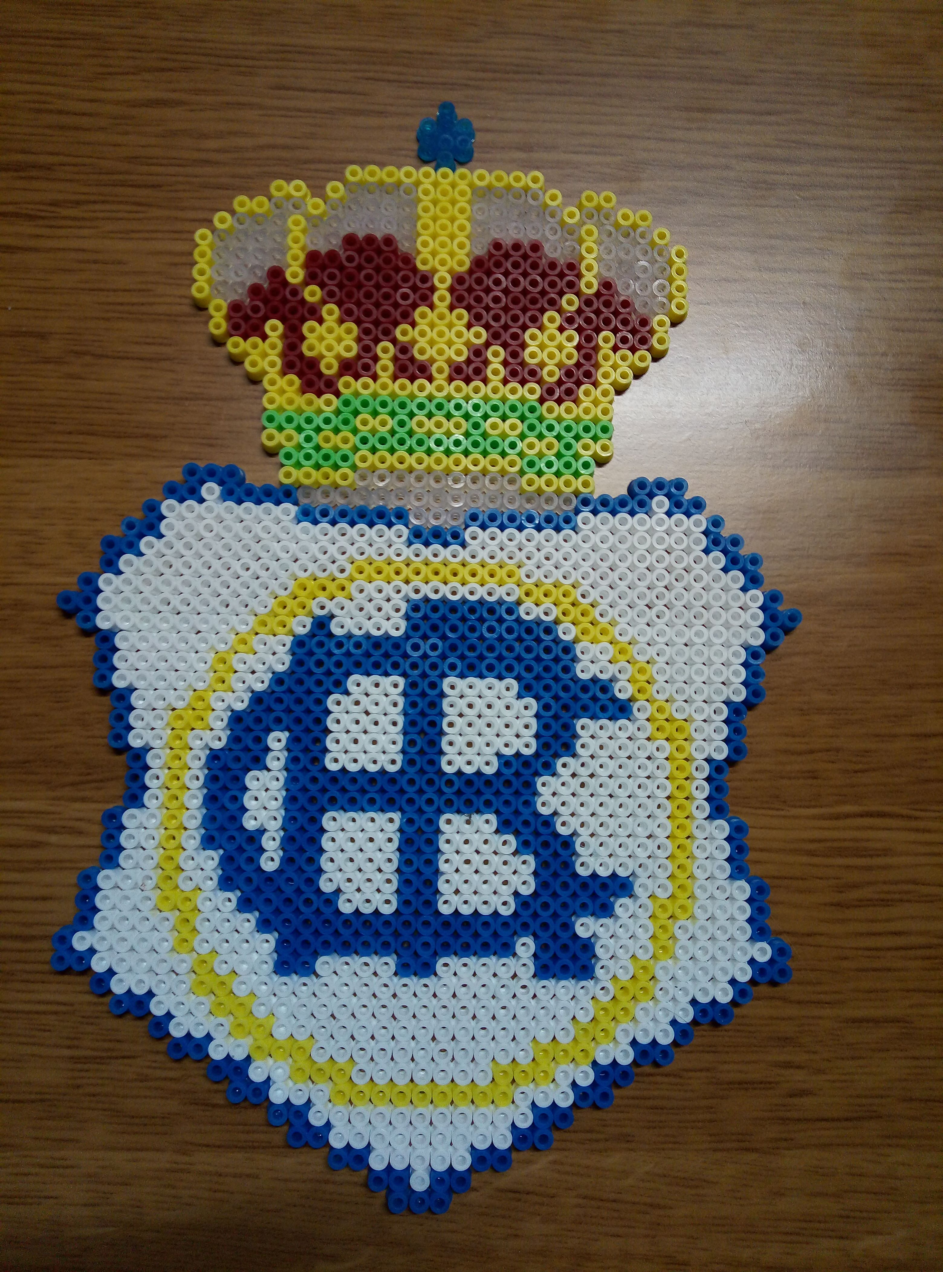 Real Club Recreativo Huelva Hama Beads Hama Beads Punto De Cruz Babero Escudos De Equipos
