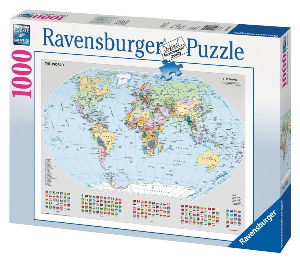 Ravensburger puzzle political world map 1000 pieces kids toy gift ravensburger puzzle political world map 1000 pieces kids toy gift jigsaw new gumiabroncs Gallery