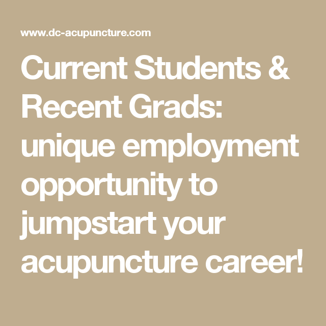 Employment Opportunity - Full Time Acupuncturist ...