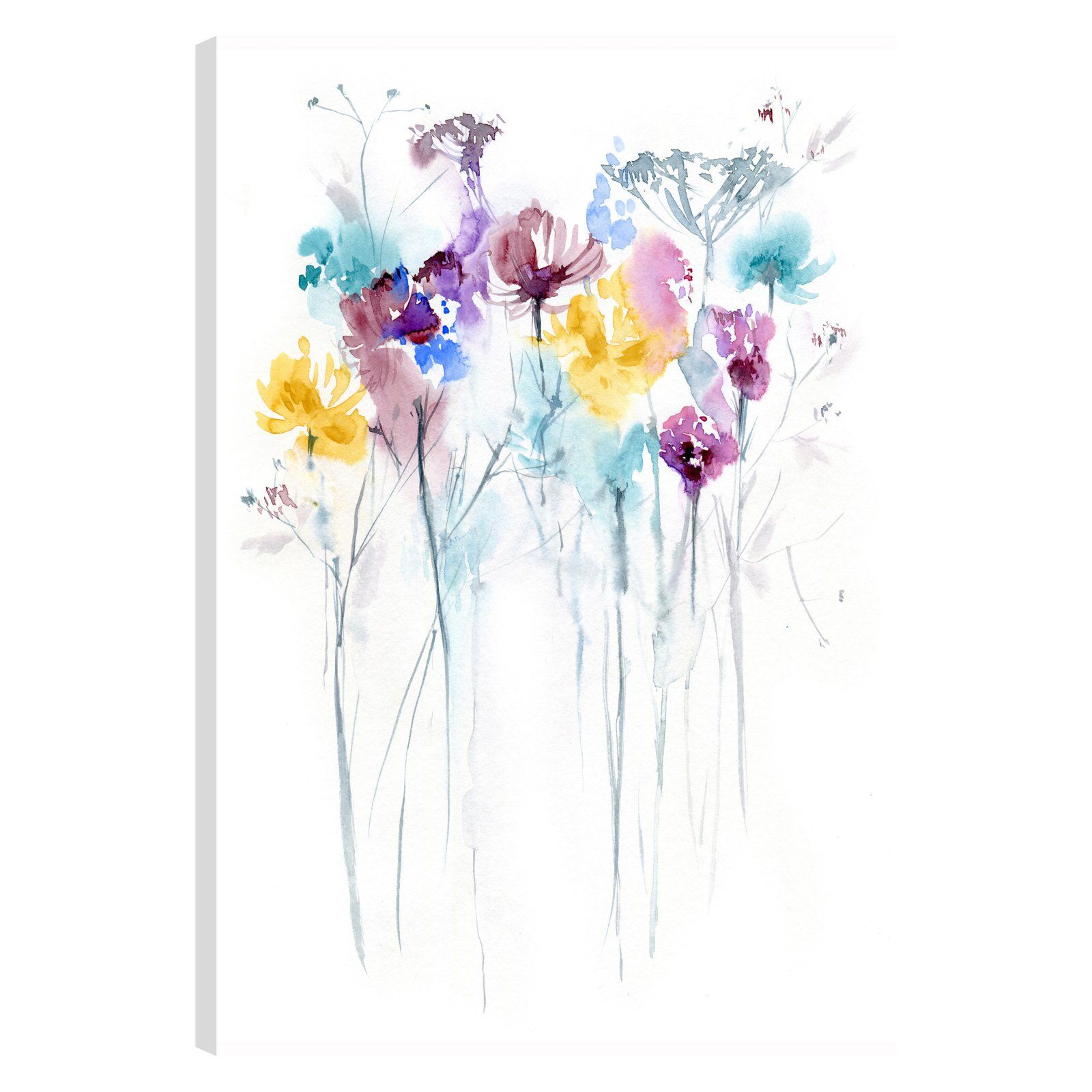Artmaison Canada The Flowers Xi Canvas Wall Art Watercolor