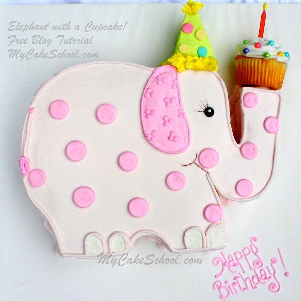 Elephant-with-a-Cupcake