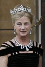 Today's Duchess of Wellington, nee Princess Antonia of Prussia, wearing the tiara - and the still major necklace