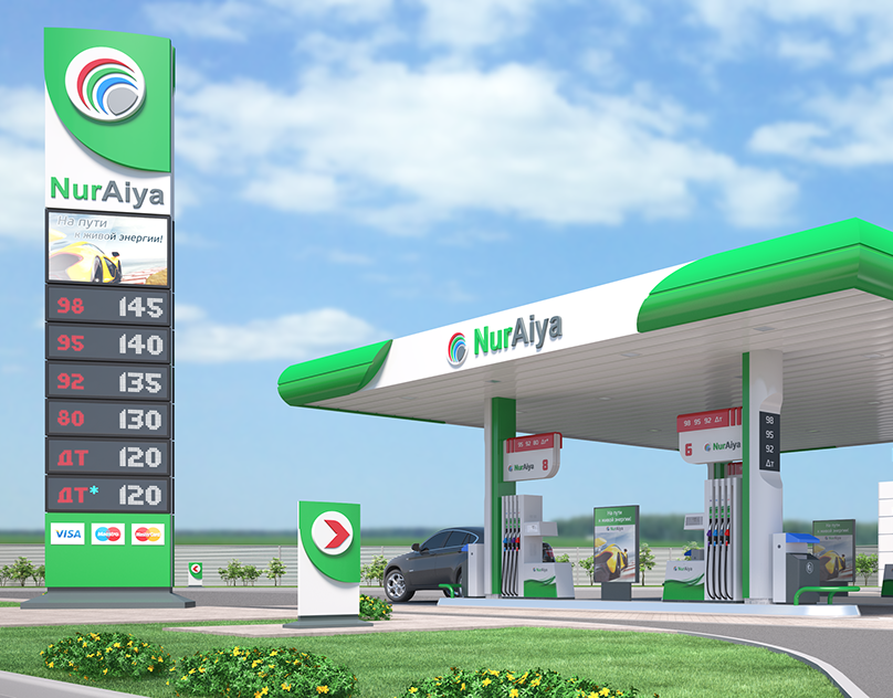 Modern Format Of Automatic Filling Stations Oilbox On Behance Filling Station Gas Station Petrol Station